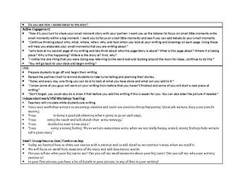 1st Grade Teachers College Small Moment/Narrative writing Unit 1 ch. 6