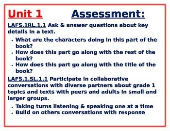 1st Grade Year-Long Unit 1-6 Strategies,Goals & Assessments for Reading Workshop