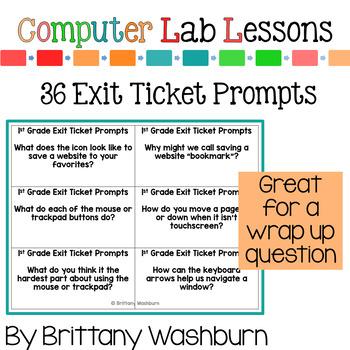 1st Grade Technology Curriculum Add on Pack