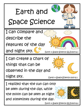 "1st Grade Tennessee Science Standards ""I Can"" Statements!"