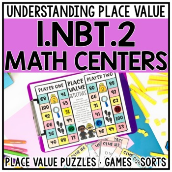 1st Grade Tens and Ones Place Value Centers for 1.NBT.2