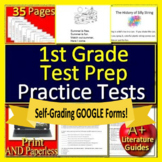 1st Grade Reading Comprehension Passages and Questions SELF-GRADING Test Prep!