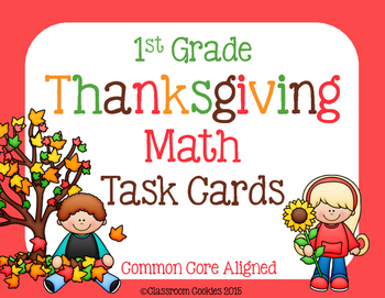 1st Grade Thanksgiving Math (Common Core Aligned)