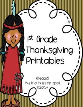 1st Grade Thanksgiving Printables