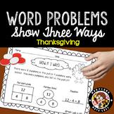 1st Grade Thanksgiving Math Word Problems