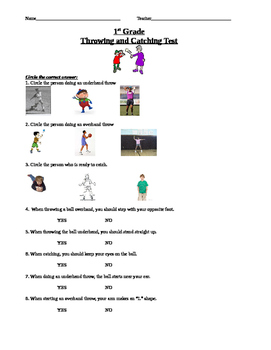 1st Grade Throwing and Catching Unit