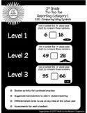1st Grade Tic-Tac-Toe 1.2G- Comparing Using Symbols
