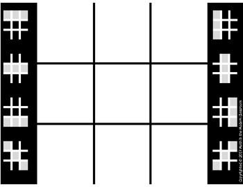 1st Grade Tic-Tac-Toe Rep.Cat. 1- Numerical Representations & Relationships