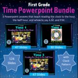 1st Grade Time Bundle - 3 Powerpoint Lessons - 124 Slides