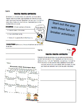 1st Grade Time Capsule Beginning/End of Year Activity + 20 Page Icebreaker PDF