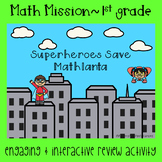 1st Grade Time and Money Math Mission-Escape Room-Superheroes End of Year Review