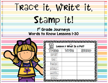 Journeys First Grade Sight Words Trace Stamp Write