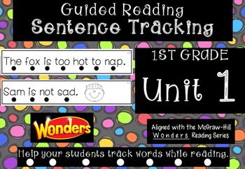 1st Grade *Tracking Sentences* Wonders Aligned Unit 1