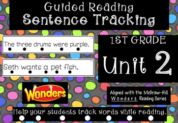 1st Grade *Tracking Sentences* Wonders Aligned Unit 2