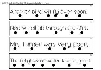 1st Grade *Tracking Sentences* Wonders Aligned Unit 5
