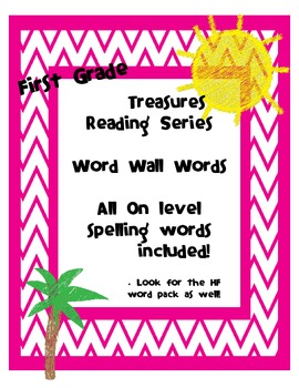 1st Grade Treasures Reading Series Word Wall Words