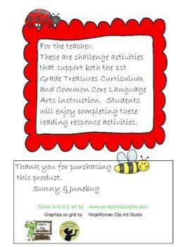 1st Grade Treasures Unit 2 Challenge Activities