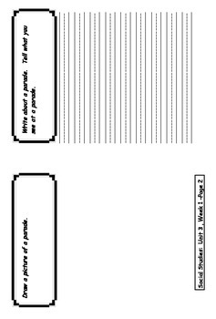 1st Grade Treasures Unit 3 Social Studies Flip Book Foldable Booklets