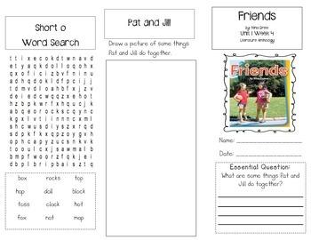 1st Grade UNIT 1 WEEK 4-Let's Be Friends: Brochure Bundle McGraw Hill Wonders