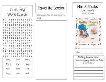 1st Grade UNIT 2 WEEK 4- Let's Help:Brochure McGraw Hill Reading Wonders