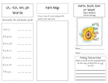 1st Grade UNIT 2 WEEK 5- Follow the Map: Brochure McGraw Hill Wonders Edition