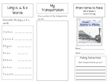 1st Grade UNIT 3 WEEK 4-Now & Then: Brochure McGraw Hill Wonders Edition