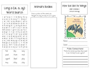 1st Grade UNIT 4 WEEK 1-Animal Features: Brochure Bundle McGraw Hill Wonders