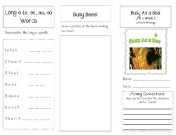 1st Grade UNIT 4 WEEK 2-Animals Together: Brochure Bundle McGraw Hill Wonders