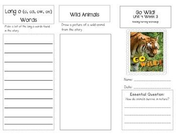 1st Grade UNIT 4 WEEK 3-In the Wild: Brochure Bundle McGraw Hill Wonders