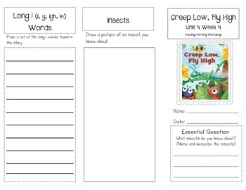 1st Grade UNIT 4 WEEK 4- Insects: Brochure Bundle McGraw H