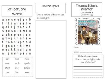1st Grade UNIT 5 WEEK 3-Great Inventions: Brochure Bundle