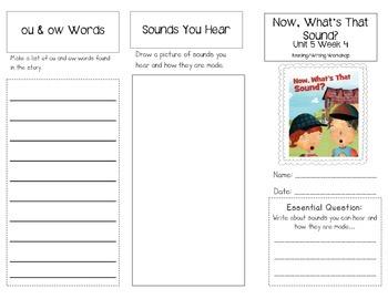 1st Grade UNIT 5 WEEK 4-Sounds All Around: Brochure Bundle McGraw Hill Wonders