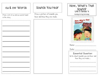 1st Grade UNIT 5 WEEK 4-Sounds All Around: Brochure Bundle