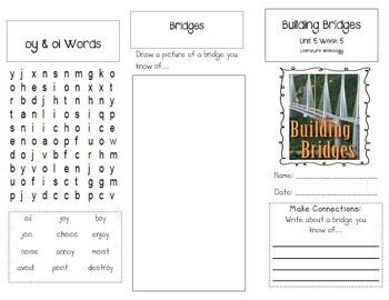 1st Grade UNIT 5 WEEK 5-Build It: Brochure Bundle McGraw Hill Wonders