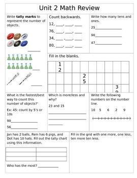 1st Grade Unit 1 Common Core Math Review