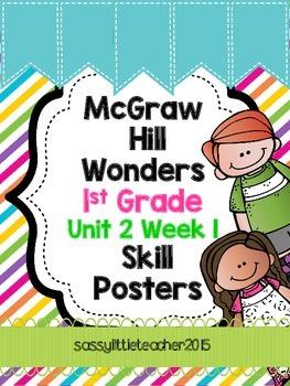 1st Grade Unit 2 Week 1 Skill Posters