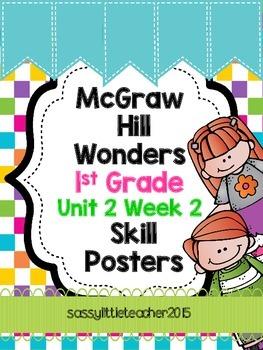 1st Grade Unit 2 Week 2 Skill Posters