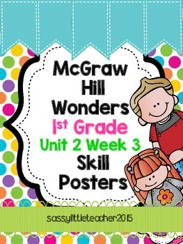 1st Grade Unit 2 Week 3 Skill Posters
