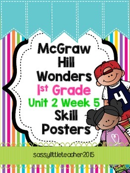 1st Grade Unit 2 Week 5 Skill Posters