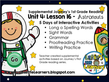 1st Grade Unit 4: Lesson 16 - Astronauts {SMARTboard Activities}