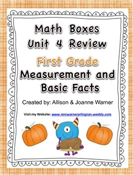 1st Grade Unit 4 Review Everyday Math ~ Measurement and Ba