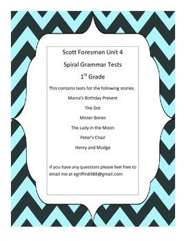 1st Grade -Unit 4 Spiral Grammar Tests Scott Foresman
