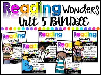 1st Grade Unit 5 Reading Wonders BUNDLE