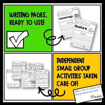 1st Grade Unit 5 Week 1 Resources Aligned with Reach for Reading- Tons of Pages!