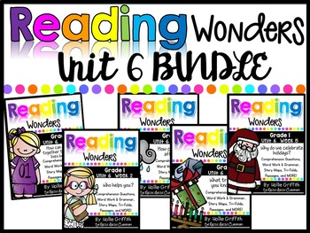 1st Grade Unit 6 Reading Wonders BUNDLE