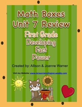 1st Grade Unit 7 Review Everyday Math ~ Developing Fact Power