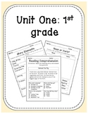 1st Grade Unit: Reading Comprehension, Story Elements, Nou