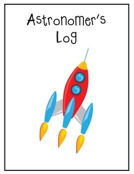 1st Grade Unit Starter Astronomer's Log