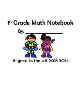 1st Grade VA Math Interactive Notebook