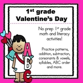 1st Grade Valentine's Day {Literacy and Math Activities}